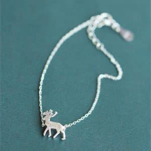 bracelet cerf miniature en argent