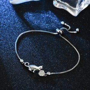 Bracelet chat en cuivre avec zircon 2