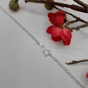 Bracelet lapin origami en argent